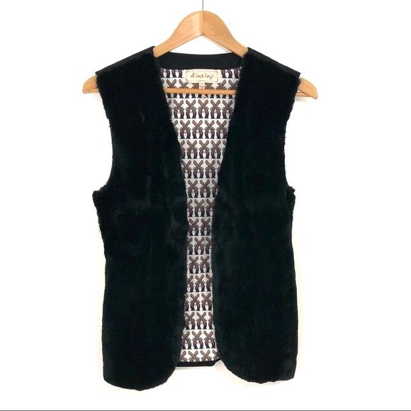 Ainsley Jackets & Blazers - Ainsley Women's Size XS Black Rabbit Fur Vest